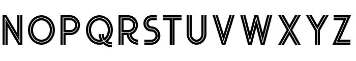 Urban Inline Font LOWERCASE