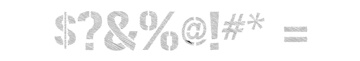 Urban Sketch Font OTHER CHARS