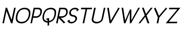 UrbanElegance-BoldItalic Font UPPERCASE
