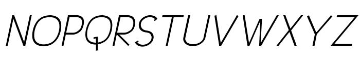 UrbanElegance-Italic Font UPPERCASE