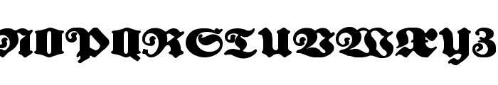 Urdeutsch Font UPPERCASE