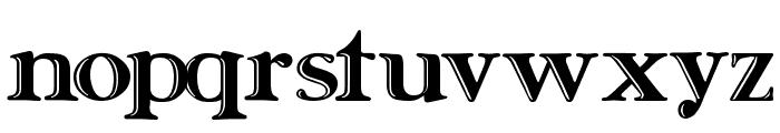 Ursa SerifEngraved Font LOWERCASE