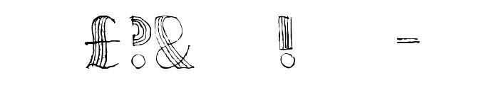 Ursula Capitals Font OTHER CHARS