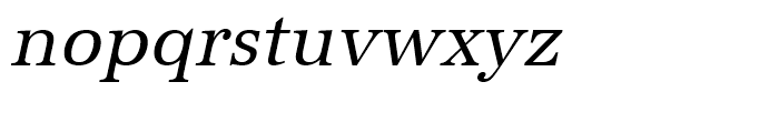 URW Antiqua Regular Narrow Oblique Font LOWERCASE