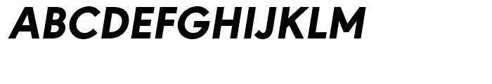 URW Geometric Heavy Oblique Font UPPERCASE