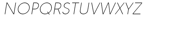 URW Geometric Thin Oblique Font UPPERCASE