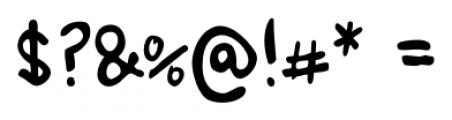 Ursula Handschrift Regular Font OTHER CHARS