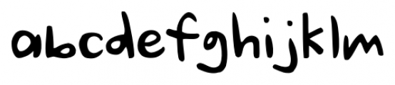 Ursula Handschrift Regular Font LOWERCASE