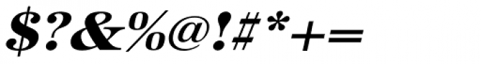 URW Antiqua ExtraWide ExtraBold Oblique Font OTHER CHARS