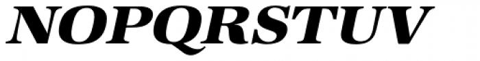 URW Antiqua ExtraWide ExtraBold Oblique Font UPPERCASE