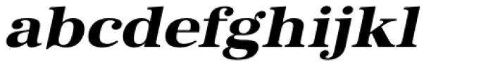 URW Antiqua ExtraWide ExtraBold Oblique Font LOWERCASE