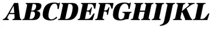 URW Antiqua Narrow ExtraBold Oblique Font UPPERCASE