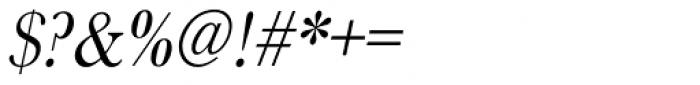 URW Baskerville ExtraNarrow Oblique Font OTHER CHARS