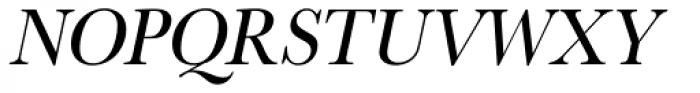 URW Baskerville ExtraNarrow Oblique Font UPPERCASE