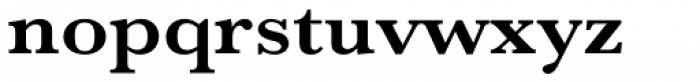 URW Baskerville ExtraWide Bold Font LOWERCASE