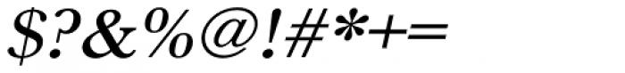 URW Baskerville ExtraWide Medium Oblique Font OTHER CHARS