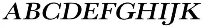 URW Baskerville ExtraWide Medium Oblique Font UPPERCASE