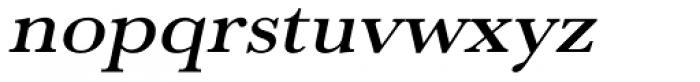 URW Baskerville ExtraWide Medium Oblique Font LOWERCASE