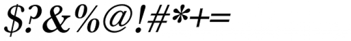 URW Baskerville Medium Oblique Font OTHER CHARS