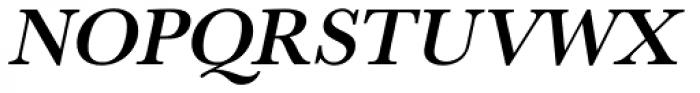URW Baskerville Medium Oblique Font UPPERCASE