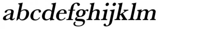 URW Baskerville Medium Oblique Font LOWERCASE