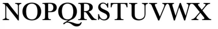 URW Baskerville Medium Font UPPERCASE