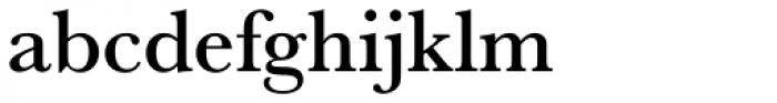 URW Baskerville Medium Font LOWERCASE