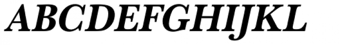 URW Baskerville Narrow Bold Oblique Font UPPERCASE