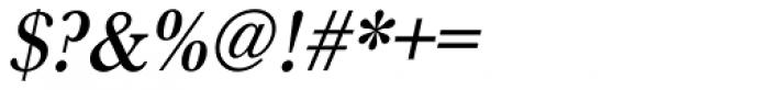 URW Baskerville Narrow Medium Oblique Font OTHER CHARS