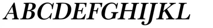 URW Baskerville Narrow Medium Oblique Font UPPERCASE