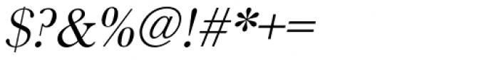 URW Baskerville Oblique Font OTHER CHARS
