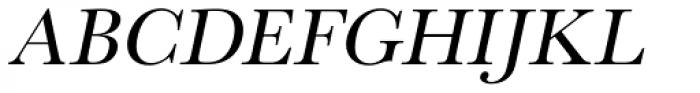 URW Baskerville Oblique Font UPPERCASE