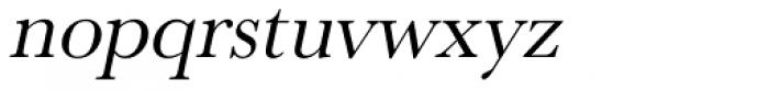 URW Baskerville Oblique Font LOWERCASE