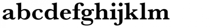URW Baskerville Wide Bold Font LOWERCASE