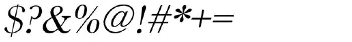 URW Baskerville Wide Oblique Font OTHER CHARS