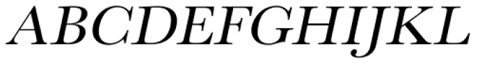 URW Baskerville Wide Oblique Font UPPERCASE