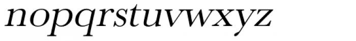 URW Baskerville Wide Oblique Font LOWERCASE