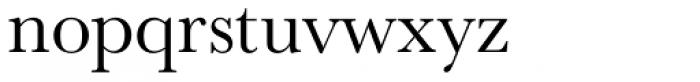URW Baskerville Font LOWERCASE