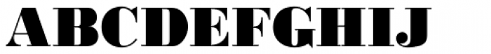 URW Bodoni ExtraBold Font UPPERCASE