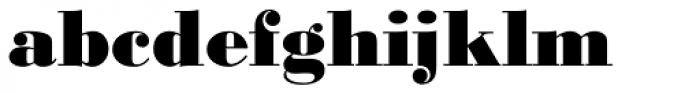 URW Bodoni ExtraBold Font LOWERCASE