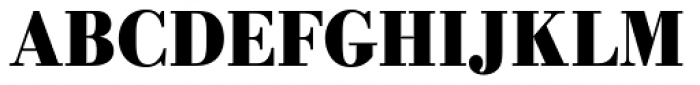URW Bodoni ExtraNarrow Bold Font UPPERCASE