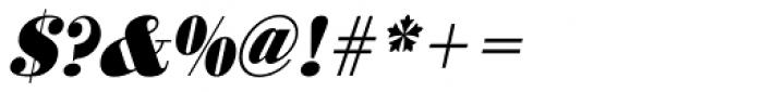URW Bodoni ExtraNarrow ExtraBold Oblique Font OTHER CHARS