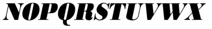 URW Bodoni ExtraNarrow ExtraBold Oblique Font UPPERCASE
