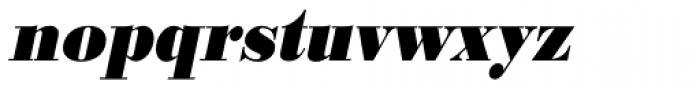 URW Bodoni ExtraNarrow ExtraBold Oblique Font LOWERCASE