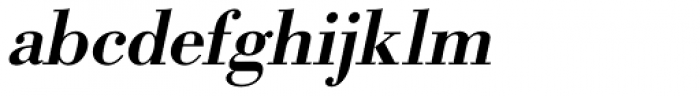 URW Bodoni Medium Oblique Font LOWERCASE