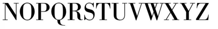 URW Bodoni Regular Font UPPERCASE