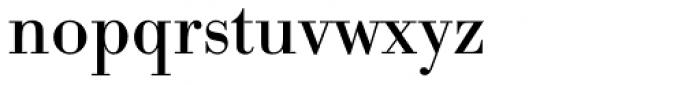 URW Bodoni Regular Font LOWERCASE