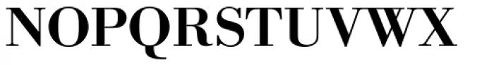 URW Bodoni Wide Medium Font UPPERCASE