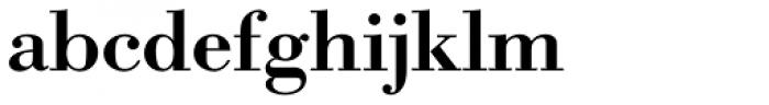 URW Bodoni Wide Medium Font LOWERCASE