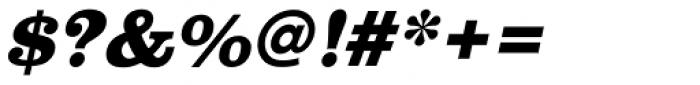 URW Clarendon ExtraBold Oblique Font OTHER CHARS